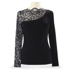 Velvet & Metallic Lace Top - Women's Clothing & Symbolic Jewelry – Sexy, Fantasy, Romantic Fashions