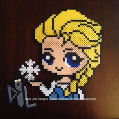 Elsa Frozen perler beads by Dark Link Designs