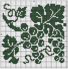 Square 55 | Free chart for cross-stitch, filet crochet | Chart for pattern - Gráfico