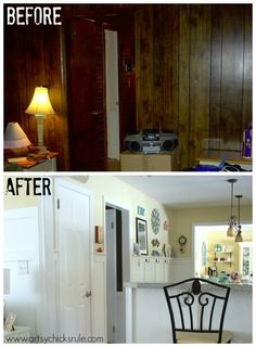 Family Room Makeover - (opened kitchen) all DIY and do-able projects!! artsychicksrule.com