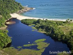Juréia lagoon and beach - São Sebastião, SP