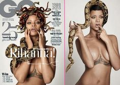 Rihanna Covered in Snakes for British GQ's 25th Anniversary Issue | GossipCenter - Entertainment News Leaders