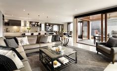 Milano Living by Carlisle Homes #Woodleaestate #CarlisleHomes #land #houseandland #newlandestate #newhome #living #dining #alfresco