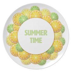Summer time. Citrus frame Dinner Plate