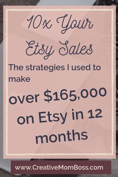 Making six figures on Etsy is not a myth — here are my top five tips to six figure success selling on Etsy while maintaining the flexibility that your family requires. Craft Business, Creative Business, Business Tips, Online Business, Business Planning, Business Goals, Starting An Etsy Business, Etsy Seo, Business Marketing