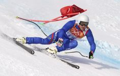 DAY 10:  Martin Bendik of Slovakia competes during the Alpine Skiing Men's Super-G http://sports.yahoo.com/olympics