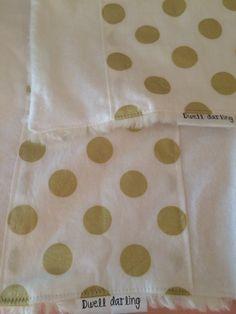 Gold Burp Cloth Gold polka dots Gold Dot Burp by DwellDarling