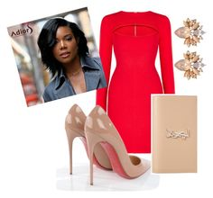 """Sha'beauty"" by shaunmyers on Polyvore featuring BCBGMAXAZRIA, Christian Louboutin and Yves Saint Laurent"