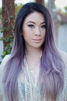 Oh, so pretty. . something about the pastel ombre that I am loovvvinngggg Silvery lavender ombre