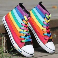 Converse with Rainbow Pattern, they are awesome but not CRAZY and WEIRD enough :P