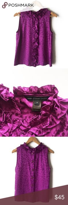 "MARC BY MARC JACOBS BLOUSE MARC BY MARC JACOBS BLOUSE Size: 6 Fabric: 100% silk Length: 23"" (top to bottom) Chest: 18"" (armpit to armpit lying flat) Next Day Shipping Marc By Marc Jacobs Tops Blouses"