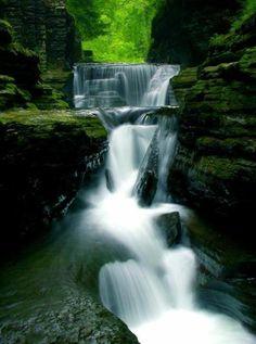 Waterfall Gorge, Ithaca, New York