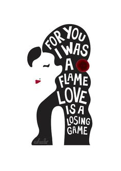 Amy Winehouse lyric print Love is a losing by whatwheelermakes