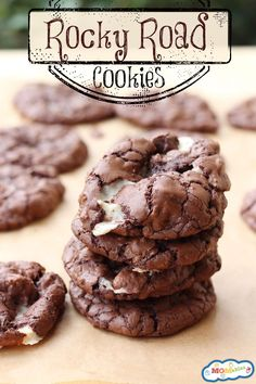 Rocky Road Cookies Recipe via MOMables is the perfect addition to your holiday parties!