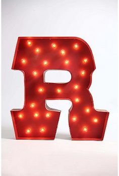 Marquee Alphabet Light - Multi letter from Urban Outfitters Alphabet Lighting, Light Camera, Home Lighting, Cleaning Wipes, Vintage Inspired, Typography, Diy Crafts, Lights, Art Prints