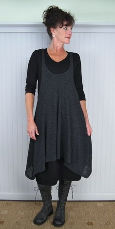 Alembika Cool Layering Tunic / 30% Off I like this look, but would wear something gray under, not black.