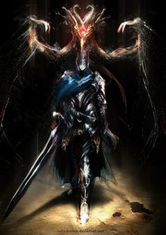 Artorias of the Abyss and Black Dragon Kalameet