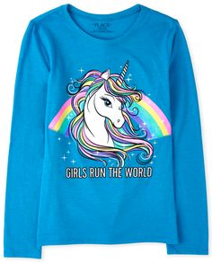 Dresses Kids Girl, Cute Girl Outfits, Kids Outfits, Kids Girls, Cute Girls, Graphic Tees, Graphic Sweatshirt, Graphic Design, Unicorn Graphic
