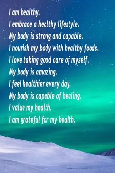 Affirmations for Health - Nourishing Parenting