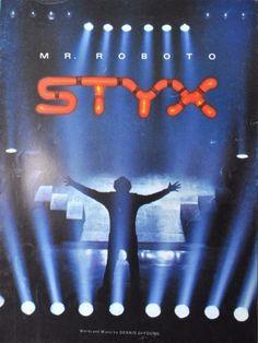 Styx-Mr-Roboto-Vtg-Sheet-Music-1983-Guitar-Tab-Vocal-Piano-Dennis-DeYoung