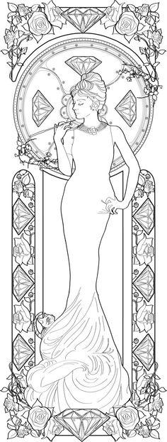 Alphonse Mucha coloring pages | Audrey Hepburn by Azael OlmosHoliday Quotes, Hepburn Sketches, Hepburn ...