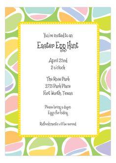 Pastel #Easter Eggs Invitation