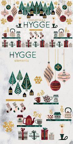 Hygge Christmas, Christmas Art, Christmas Ornaments, Christmas Candles, Modern Christmas, Christmas Holidays, Winter Illustration, Watercolor Illustration, Christmas Illustration Design