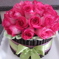 Send anniversary flowers to Philippines - Pink Birthday Cake Ideen Pretty Birthday Cakes, Happy Birthday Flower, Birthday Cake With Flowers, Birthday Cake Girls, Fresh Flower Cake, Fresh Flowers, Pink Flowers, Cake Flowers, Flower Cakes