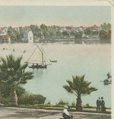 A winter's day in West Lake Park, Los Angeles, Calif., circa 1905.