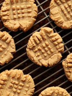 ONLY 4 INGREDIENT PEANUT BUTTER COOKIES ~ 1 cup peanut butter, 1 cup sugar, 1 egg, and I teaspoon vanilla. 350 degrees at 10 min. I've made these for 20 years. They are really the best!