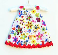 Party Bug Flower and Butterfly  Baby Dress  by KKchildrendesigns, $37.00