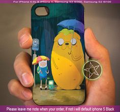 Adventure Time - iPhone 4 / iPhone 4S / iPhone 5 / Samsung S2 / Samsung S3 / Samsung S4 Case Cover on Etsy, $15.55