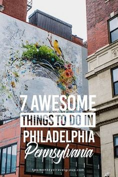 "7 Awesome Things to Do in Philadelphia, Pennsylvania Philadelphia is known as the ""City of Brotherly Love"" and is one of the oldest cities in America. It is the fifth largest city in the US with a population of about 1.5 million. It's a unique blend of history and culture and has many traditions that the citizens take very seriously. If you like delicious food, historical sites, stunning art, and friendly people, you need to stop in Philadelphia!"