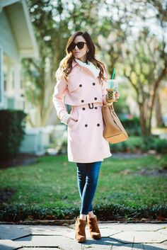 PINK TRENCH   Sequins & Things
