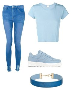 """""""Everything is blue💙"""" by preppy29 ❤ liked on Polyvore featuring Boohoo, RE/DONE, NIKE and Miss Selfridge"""