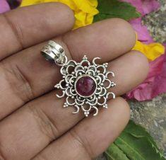 Gypsy Jewelry, Jewelry For Her, Copper Jewelry, Gemstone Jewelry, Jewelry Gifts, Ruby Gemstone, Ruby Pendant, Delicate Jewelry, Christmas Jewelry
