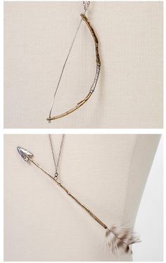 bow and arrow bff necklace.