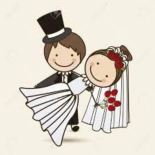 Resultado de imagen para recien casados animados imagenes para tarjeta