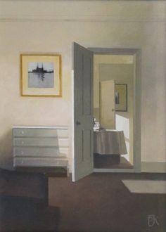Peter Kelly: The Open Door to the Studio, Oil on canvas