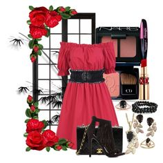Red Onyx by mikazuki-mortis-angelus on Polyvore featuring polyvore, fashion, style, Charlotte Russe, Bling Jewelry, Kobelli, Forever 21, NARS Cosmetics, Christian Dior, Yves Saint Laurent, L'Oréal Paris and Chanel