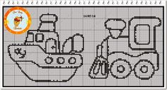 Ângela Bordados: several vehicle patterns for plastic canvas and cross stitch