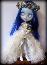 Custom OOAK Blythe Pullip Monster High Art Doll Tim Burton Corpse Bride