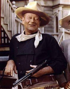 John Wayne/....John Wayne in Rio Bravo w/Dean Martin and Ricky Nelson.
