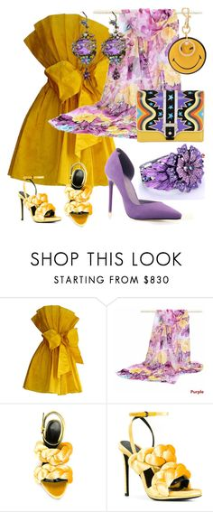 """""""Lots of people want to ride with you in the limo, but what you want is someone who will take the bus with you when the limo breaks down. (Oprah Winfrey)"""" by m-kints ❤ liked on Polyvore featuring Michal Negrin, Marco de Vincenzo, Anya Hindmarch, Paula Cademartori, Spring, yellow, wear and PearlsandLace"""
