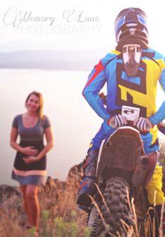 Pregnancy announcement dirt bike life