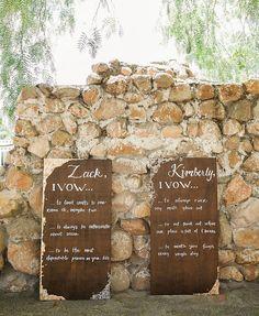 wooden vows