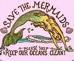 kawaii Typography Mermaids