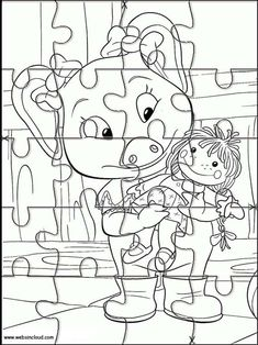 Printable jigsaw puzzles to cut out for kids Jakers, The Adventures of Piggley Winks 41 Printable Puzzles, Printables, Free Jigsaw Puzzles, Jigsaw Online, Coloring Pages, Activities For Kids, Snoopy, Fictional Characters, Art