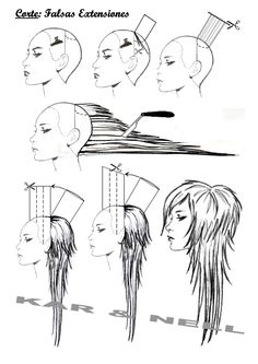 Diagram of long shag with disconnected layers . Diagram of long shag with disconnected layers Long Layered Haircuts, Haircuts For Long Hair, Long Hair Cuts, Cool Hairstyles, Long Shag Hairstyles, Natural Hairstyles, Short Emo Haircuts, Razor Cut Hair, Edgy Long Hair