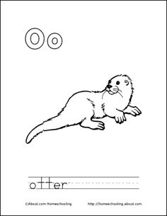 My O Book Otter Coloring Page